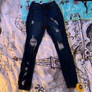 Fashion Nova Distressed Jeans (high waist)